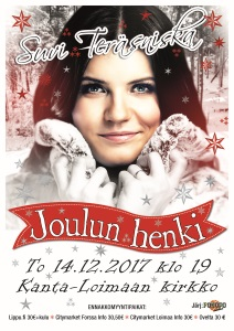 Joulukonsertissa Suvi Teräsniska